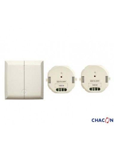 interrupteur sans fil double 2 modules on off 1000w dio. Black Bedroom Furniture Sets. Home Design Ideas