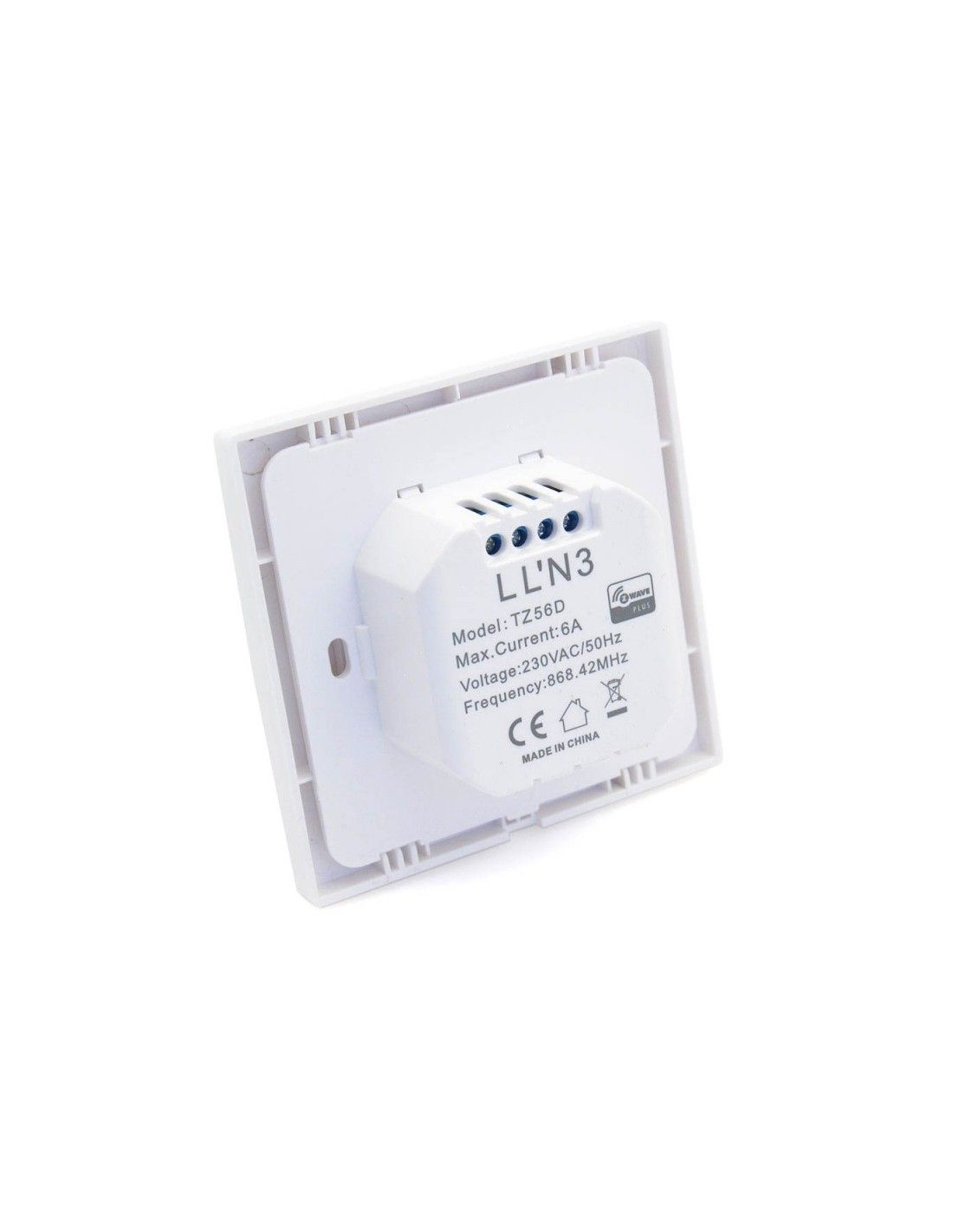 TKB Home - Double Switch (single charge) Z-Wave Plus White (TZ56D-ZW5)