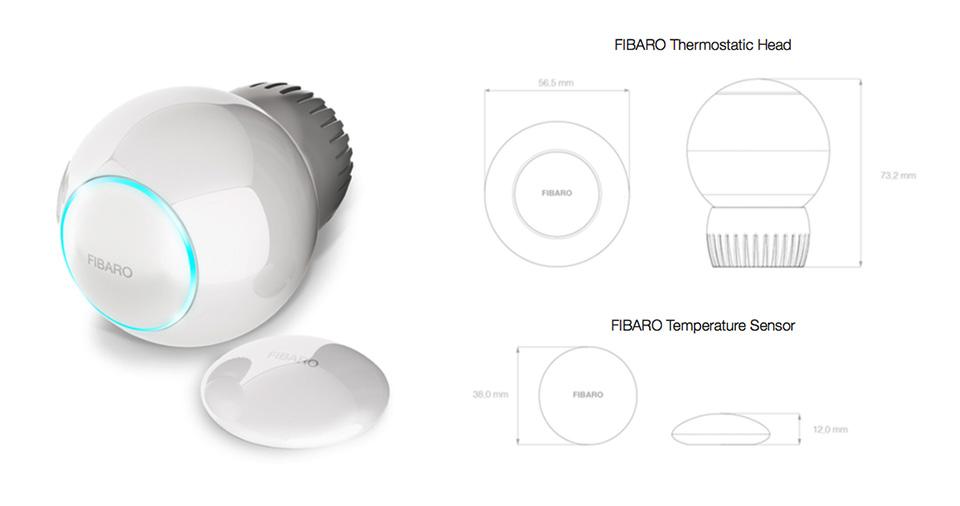 fibaro temperatursensor radiator thermostat sensor. Black Bedroom Furniture Sets. Home Design Ideas