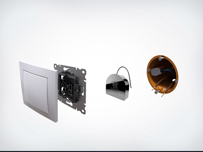FIBARO - Modul Schalter Z-Wave+ FGS-213 (FIBARO Single Switch 2)
