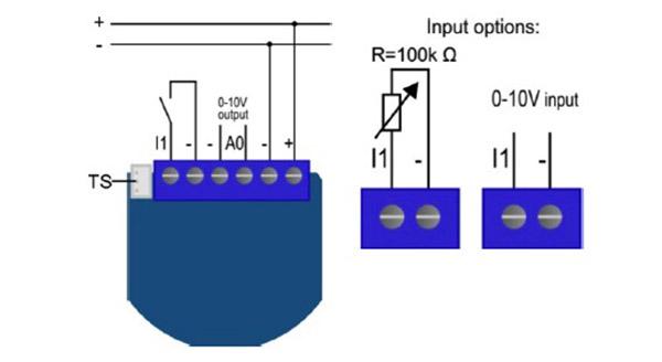 Schema Collegamento Dimmer : Qubino micro modulo regolatore v z wave zmnhvd
